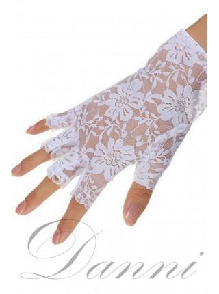Белые короткие перчатки
