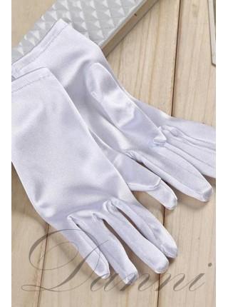 Атласные белые перчатки