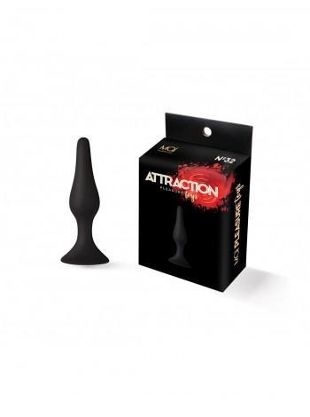 Анальная пробка на присоске MAI Attraction Toys №32 Black, 10,5х2,5см
