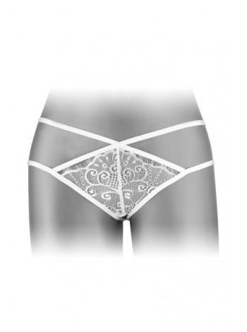 Трусики-стринги Fashion Secret MYLENE White с двойной линией бедра