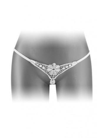 Трусики-стринги с доступом Fashion Secret DANUTA White