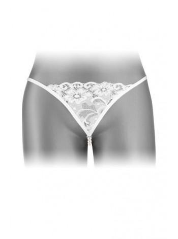 Трусики-стринги с жемчужной ниткой Fashion Secret VENUSINA White