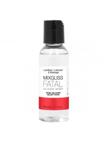Лубрикант на силиконовой основе с ароматом бархатной розы MixGliss FATAL - VALVET ROSE, 50мл