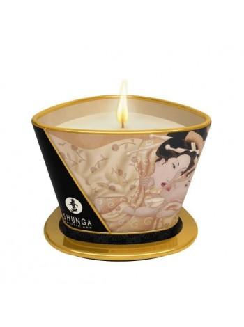 Массажная свеча с афродизиаками Shunga Massage Candle - Vanilla Fetish, 170мл