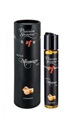 Съедобное массажное масло с афродизиаками Plaisirs Secrets Caramel (Карамель)