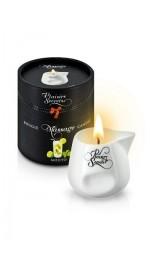 Масажна свічка з ароматом мохіто Plaisirs Secrets Mojito в керамічній судині, 80мл