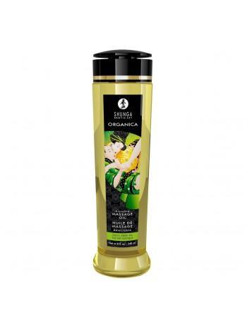 Органическое массажное масло Shunga ORGANICA - Exotic green tea с витамином Е, 240 мл