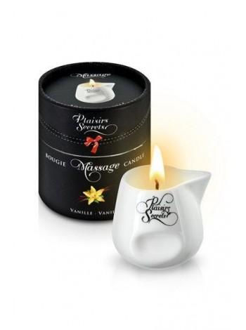 Подарочная массажная свеча в керамическом сосуде Plaisirs Secrets Vanilla, 80мл