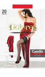 """Красные чулки Dolores """"Camilla"""" 20 den без силикона"""