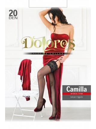 """Белые чулки Dolores """"Camilla"""" 20 den без силикона"""