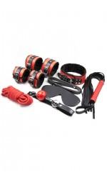 Набор БДСМ аксессуаров черно-красного цвета