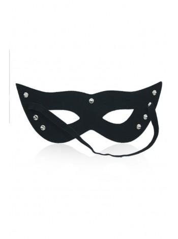 Кожаная черная маска