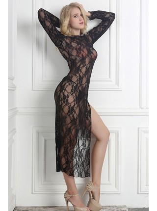 Довга сукня-пеньюар «Вамп»