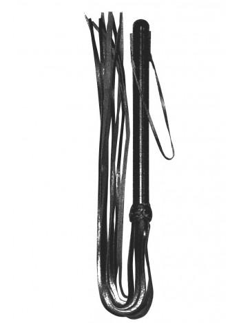 Кожаная плеть с деревянной рукояткой