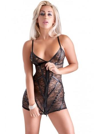 Мини-платье черного цвета с цветочным орнаментом