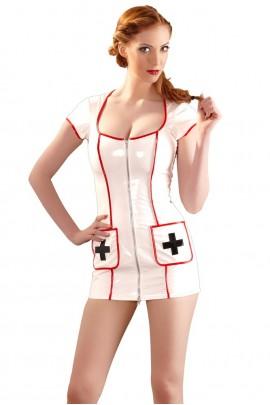 Эротичный лаковый костюм медсестры