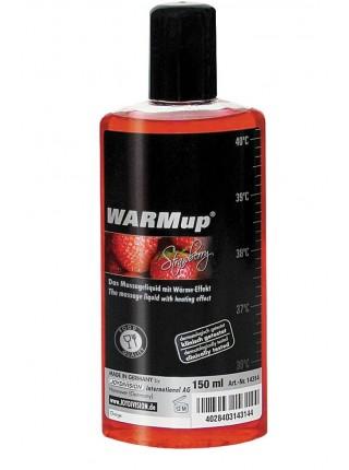 Разогревающее массажное масло - WARMup strawberry, 150 мл bottle