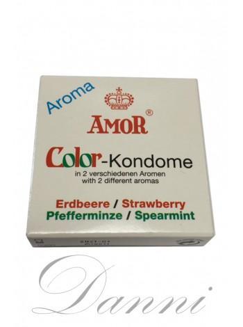 Презервативы ароматизированные - AMOR Color 2шт.