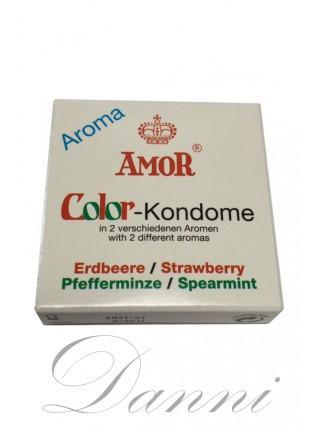 Презервативи ароматизовані - AMOR Color 2шт.