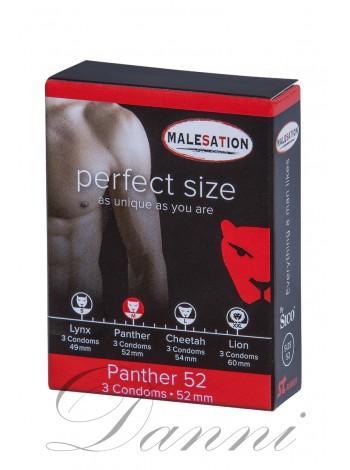 Презервативы с гладкой поверхностью MALESATION Panther 52 - 3 шт.