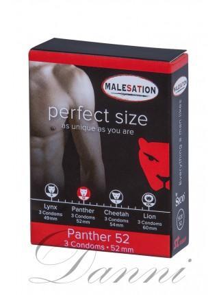 Презервативи з гладкою поверхнею MALESATION Panther 52 - 3 шт.