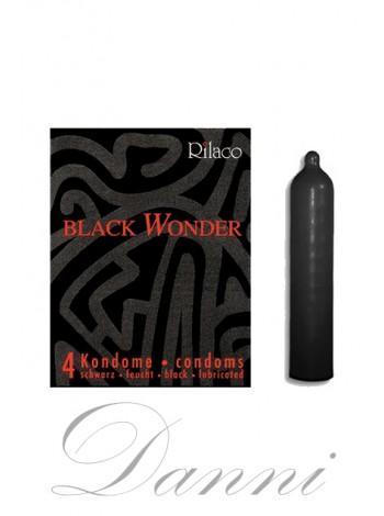Презервативы в черном цвете - Rilaco Black Wonder 4 шт