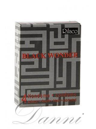 Презервативи в чорному кольорі - Rilaco Black Wonder 4 шт
