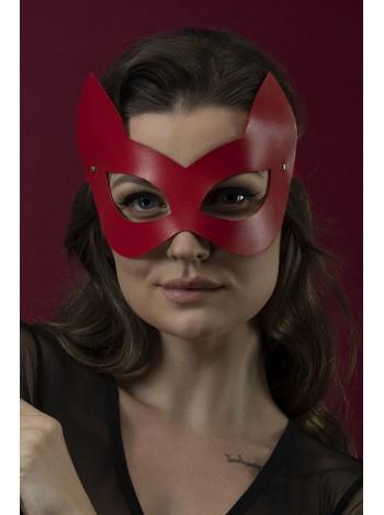 Красная маска кошечки из натуральной кожи Feral Feelings - Kitten Mask
