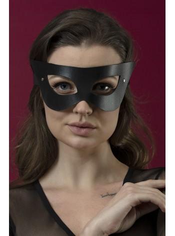 Черная кожаная маска на лицо Feral Feelings - Mistery Mask