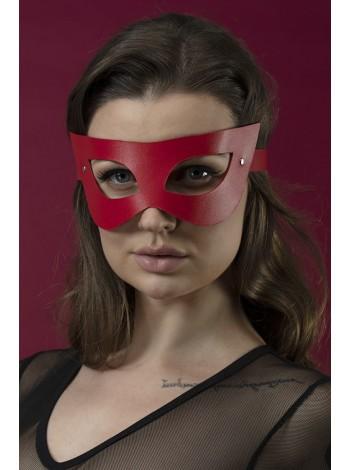 Красная маска на лицо Feral Feelings - Mistery Mask, натуральная кожа