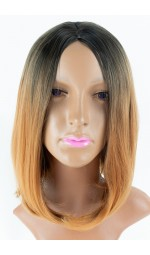 Жіноча перука каре (чорно-русяве омбре)