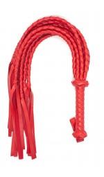 Красная плеть с плетеными хвостами