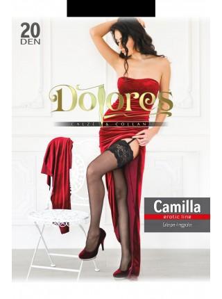 """Черные чулки Dolores """"Camilla"""" 20 den без силикона"""