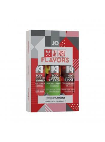 Набор вкусовых оральных смазок System JO Tri-Me Triple Pack - Flavors, 3х30 мл