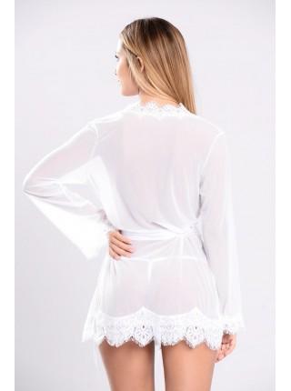 Белый полупрозрачный халатик