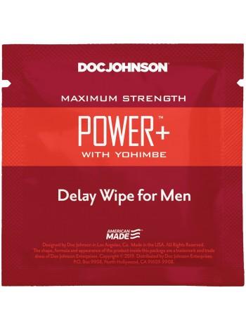 Пролонгирующая салфетка с экстрактом йохимбе Doc Johnson Power+ Delay Wipe For Men
