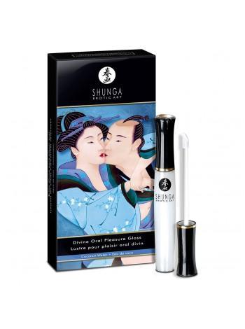 Стимулирующий блеск для губ Shunga LIPGLOSS - Coconut Water, 10мл, согревающе-охлаждающий эффект